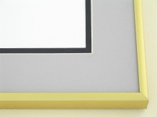 metal Custom Picture Frame Sku: N11-04  Frosted Gold