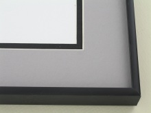 Custom Picture Frame Sku: N12-21  Matte Black