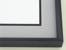 Custom Picture Frame Sku: N24-421  Brushed Satin Black