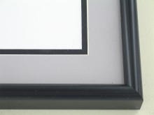 Custom Picture Frame Sku: N25-50  Black