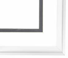 metal Custom Picture Frame Sku: N37-187  Profile 37 Platinum