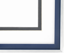 metal Custom Picture Frame Sku: N37-351  Profile 37 Pin Stripe Blue