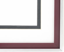 metal Custom Picture Frame Sku: N37-353  Profile 37 Crimson Red