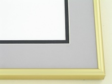 metal Custom Picture Frame Sku: N5-04  Frosted Gold