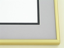 metal Custom Picture Frame Sku: N58-04  Frosted Gold