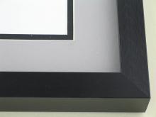 metal Custom Picture Frame Sku: N95-429  Brushed Brite Black