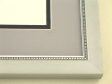 metal Custom Picture Frame Sku: N97-702  Beaded Florentine Silver/silver Highlights