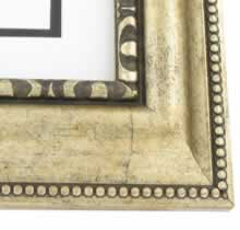 "valucore Custom Picture Frame Sku: P1021  3"" Silver Reverse Ornate"