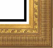 Custom Picture Frame Sku: P2001  3 1/4  Gold Ornate