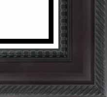 valucore Custom Picture Frame Sku: P2002  3 5/8 Mahogany Ornate Rope