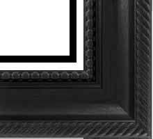 valucore Custom Picture Frame Sku: P2004  3 5/8 Walnut Ornate Rope