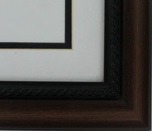 "valucore Custom Picture Frame Sku: P3009  2"" Reverse Walnut With Roped Lip"
