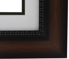 "valucore Custom Picture Frame Sku: P3011  2 3/4"" Reverse Walnut - Beaded Lip"