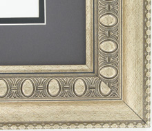 "valucore Custom Picture Frame Sku: P5001  2 1/2"" Ornate Silver Reverse Poly"