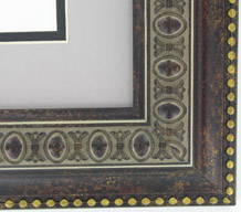 "valucore Custom Picture Frame Sku: P5002  2 1/2"" Ornate Bronze With Gold Bead"