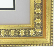 "valucore Custom Picture Frame Sku: P5003  2 1/2"" Ornate Gold With Beaded Edge"