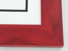 "Custom Picture Frame Sku: T2001  2"" Red Colorwash"