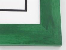 "Custom Picture Frame Sku: T2002  2"" Green Colorwash"
