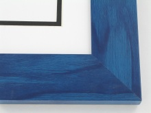 "Custom Picture Frame Sku: T2003  2"" Blue Colorwash"