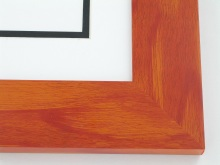"Custom Picture Frame Sku: T2004  2"" Orange Colorwash"