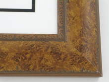 "Custom Picture Frame Sku: T2007  2-1/2"" Light Walnut Burl W Embossed Lip"