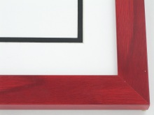 "wood Custom Picture Frame Sku: T2010  1-1/8"" Red Colorwash"