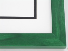 "wood Custom Picture Frame Sku: T2011  1-1/8"" Green Colorwash"