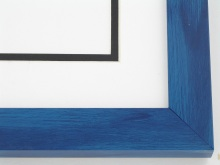 "wood Custom Picture Frame Sku: T2012  1-1/8"" Blue Colorwash"