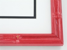 "wood Custom Picture Frame Sku: T2022  1"" Red Enamel Bamboo"
