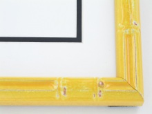 "wood Custom Picture Frame Sku: T2023  1"" Yellow Enamel Bamboo"