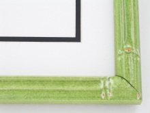 "wood Custom Picture Frame Sku: T2024  1"" Green Enamel Bamboo"