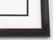 "Custom Picture Frame Sku: T2032  7/8"" Walnut Wood Grain High Gloss"