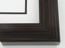 "Custom Picture Frame Sku: T2034  2"" Walnut Wood Grain High Gloss"