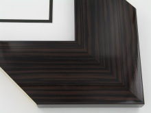 "Custom Picture Frame Sku: T2036  3-3/4"" Walnut Wood Grain High Gloss"