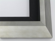 "wood Custom Picture Frame Sku: T2049  2-1/2"" Smokey Silver Modern Floater"