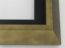 "wood Custom Picture Frame Sku: T2050  2-1/2""smokey Gold Modern Floater"