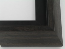 "wood Custom Picture Frame Sku: T2052  2-1/2"" Espresso Modern Floater"