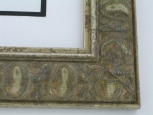 "Custom Picture Frame Sku: W13-953  2 1/4""ancient Silver"