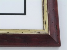 "Custom Picture Frame Sku: W33-400  1 7/8"" Distressed Rosewood"