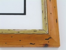 "wood Custom Picture Frame Sku: W33-401  1 7/8"" Distressed Honey"