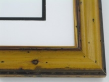 "Custom Picture Frame Sku: W40-420  1 3/4"" Pitted Yellow Pine"