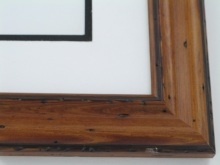 "Custom Picture Frame Sku: W40-421  1 3/4"" Pitted Pecan"