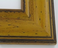 "Custom Picture Frame Sku: W41-420  3 1/2"" Pitted Yellow Pine"