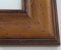 "Custom Picture Frame Sku: W41-421  3 1/2"" Pitted Pecan"