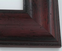 "Custom Picture Frame Sku: W41-422  3 1/2"" Pitted Cherry"