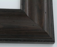 "Custom Picture Frame Sku: W41-423  3 1/2"" Pitted Dark Walnut"