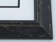 "Custom Picture Frame Sku: W42-430  2"" Aged Black Silver"