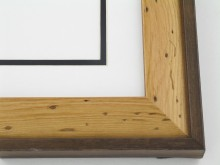 "Custom Picture Frame Sku: W52-460  1 5/8"" Pine With Cap"