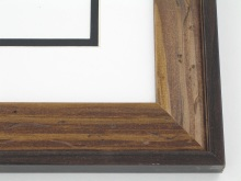 "Custom Picture Frame Sku: W52-463  1-5/8"" Walnut With Cap"